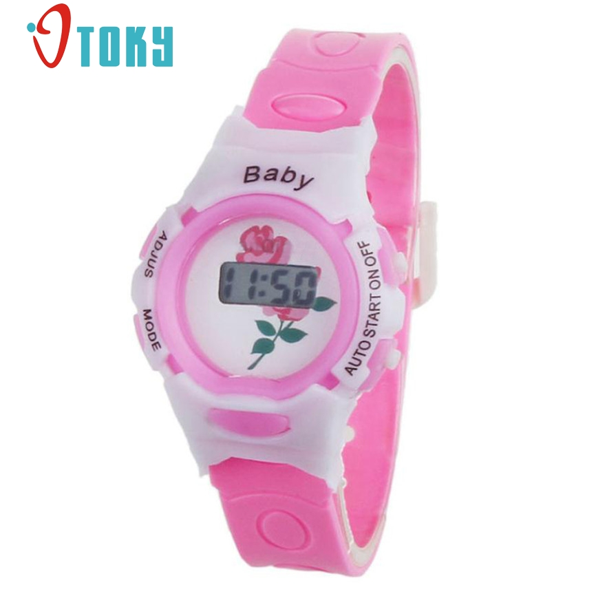 New Arrive Colorful Kids Students Time Electronic Digital Wristwatches Fashion Boys Girls Sport watch clock #40 Gift 1pc