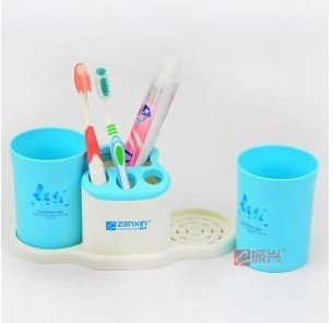 Novelty bath toothbrush set toothbrush holder with cup 24*11*11cm free shipping image