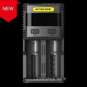 Новый стандарт интеллектуальная зарядка 3A Быстрая зарядка превосходное зарядное устройство Nitecore SC2 с 5А общая мощность