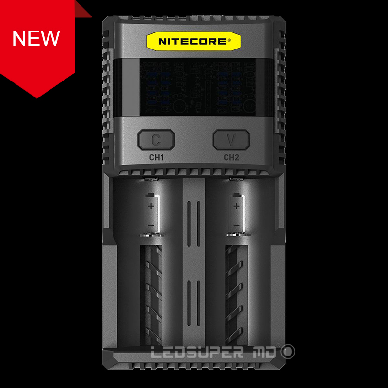 New Benchmark Intelligent Charging 3A Speedy Charge Superb Battery Charger Nitecore SC2 With 5A Total Output