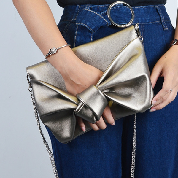 Fashion Bow tie Women Envelope clutch bag Luxury design lady evening bags Chain Crossbody Bags for Women's shoulder bag Clutches small transparent acrylic clutch perfume bottle bags lady evening clutch bags chain clutches women crossbody bag