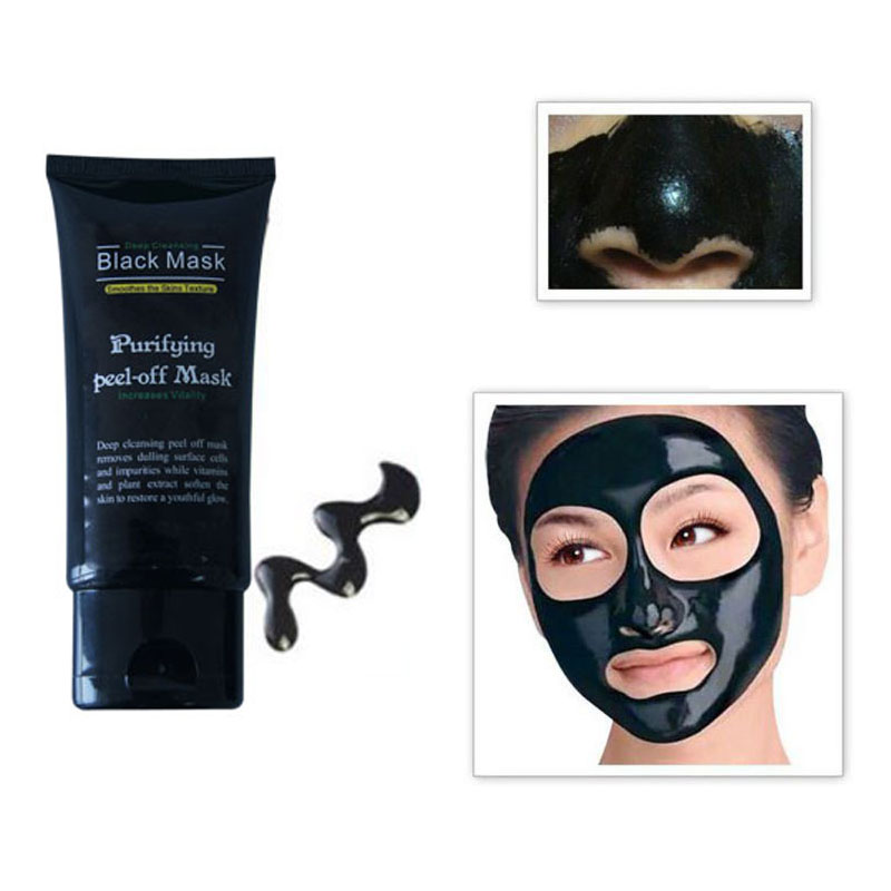 Big Promotion 50ml Professional Blackhead Remover Facial Masks Deep Cleansing Purifying Peel Off Black Mud Face Mask 1