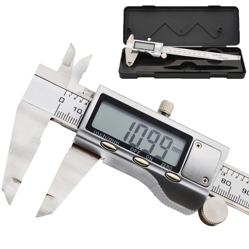 6-Inch Electronic Caliper Metal 150mm Stainless Steel Electronic Digital Vernier Caliper Micrometer Measuring Gauge Micrometer