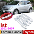 Для Toyota IST XP60 2002 ~ 2007 хромированная внешняя дверная ручка крышка наклейки на автомобиль отделка набор из 4 дверей 2003 2004 2005 2006