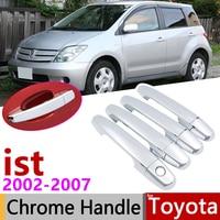 Toyota ist xp60 2002 ~ 2007 크롬 외장 도어 핸들 커버 자동차 액세서리 스티커 트림 4 도어 세트 2003 2004 2005 2006