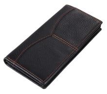 Nesitu Long Size Vintage Black / Coffee 100% Guarantee Real Genuine Leather Men Wallets Women Wallet Card Holder #M8059