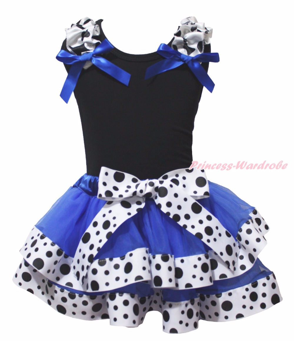 4th July I Love USA Little Miss USA Red White Cute Plain Black Top Royal Blue Milk Cow Dots Ribbon Girl Petal Skirt Outfit NB-8Y akhtar hussain and devendra kumar media information resources