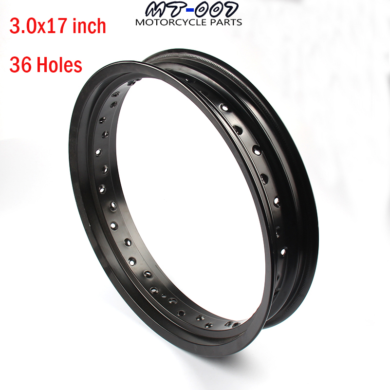 Dirt Pit bike Rims Hub Ring 3.0x17inch aluminum for dirt bike 36H Wheels Circle pit bike KTM CRF Kayo BSE Apollo spare parts crf50 frame battery box dirt pit bike case holder off road motorcycle apollo 110 chinese motocross