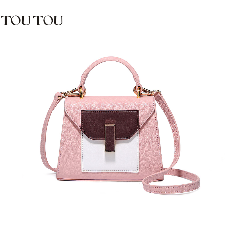 TT034 Luxury 2017 women candy colors handbags famous brand leather high quality children tote bags print bag bolsas sac a main
