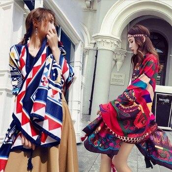 ef36b3efd10 2018 primavera otoño nuevo diseño estilo étnico gasa algodón mujeres fino  largo chal bufanda Mujer talla