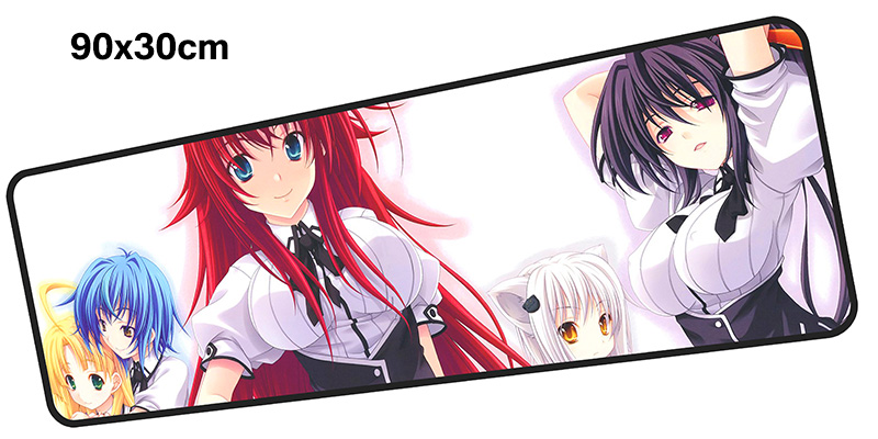 high school dxd mousepad gamer 900x300X3MM gaming mouse pad large cute notebook pc accessories laptop padmouse ergonomic mat