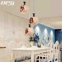 Tiffany moderna de Cristal LED Luces Colgantes Accesorios de La Lámpara e27 220 v para la Decoración del Comedor Cocina Bar Restaurante iluminación del hogar