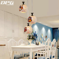 Modern Tiffany Glass LED Pendant Lights Lamp Fixtures e27 220v for Decor Dinning Room Kitchen Bar Restaurant home lighting