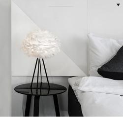 Osobowość twórcza kreatywne białe pióra lampa A1 Nordic zagłówkiem lampa prosta kreatywna lampa na podłogę do sypialni ZA ZL348