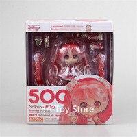 Anime Figure Hatsune Miku Sakura Miku Nendoroid 500# PVC Action Figure Collectible Model Toy Doll 10CM