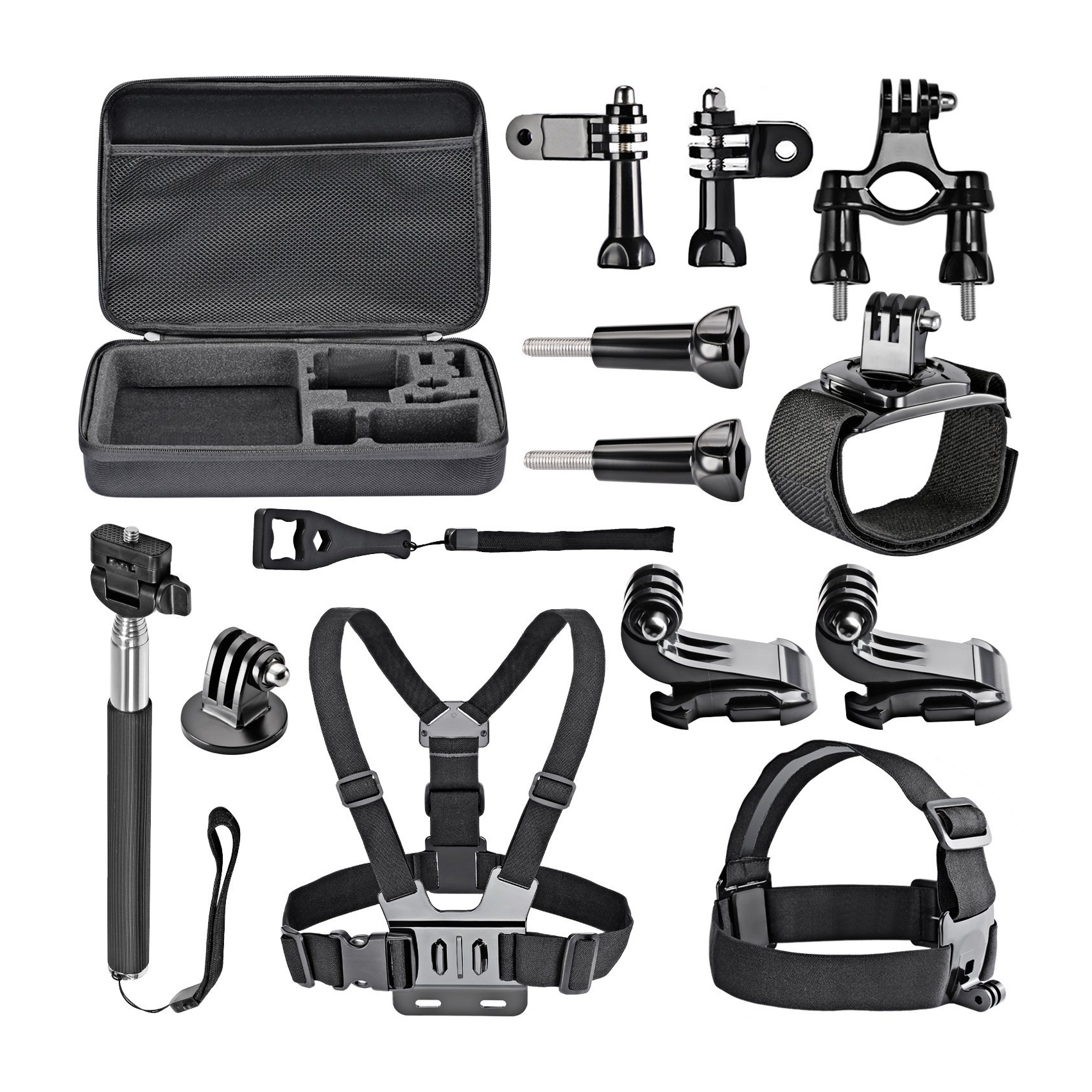 14-in-1 game External sports indispensable accessories for Gopro HD Hero4 Hero 1 2 3 3+ 4, SJ4000