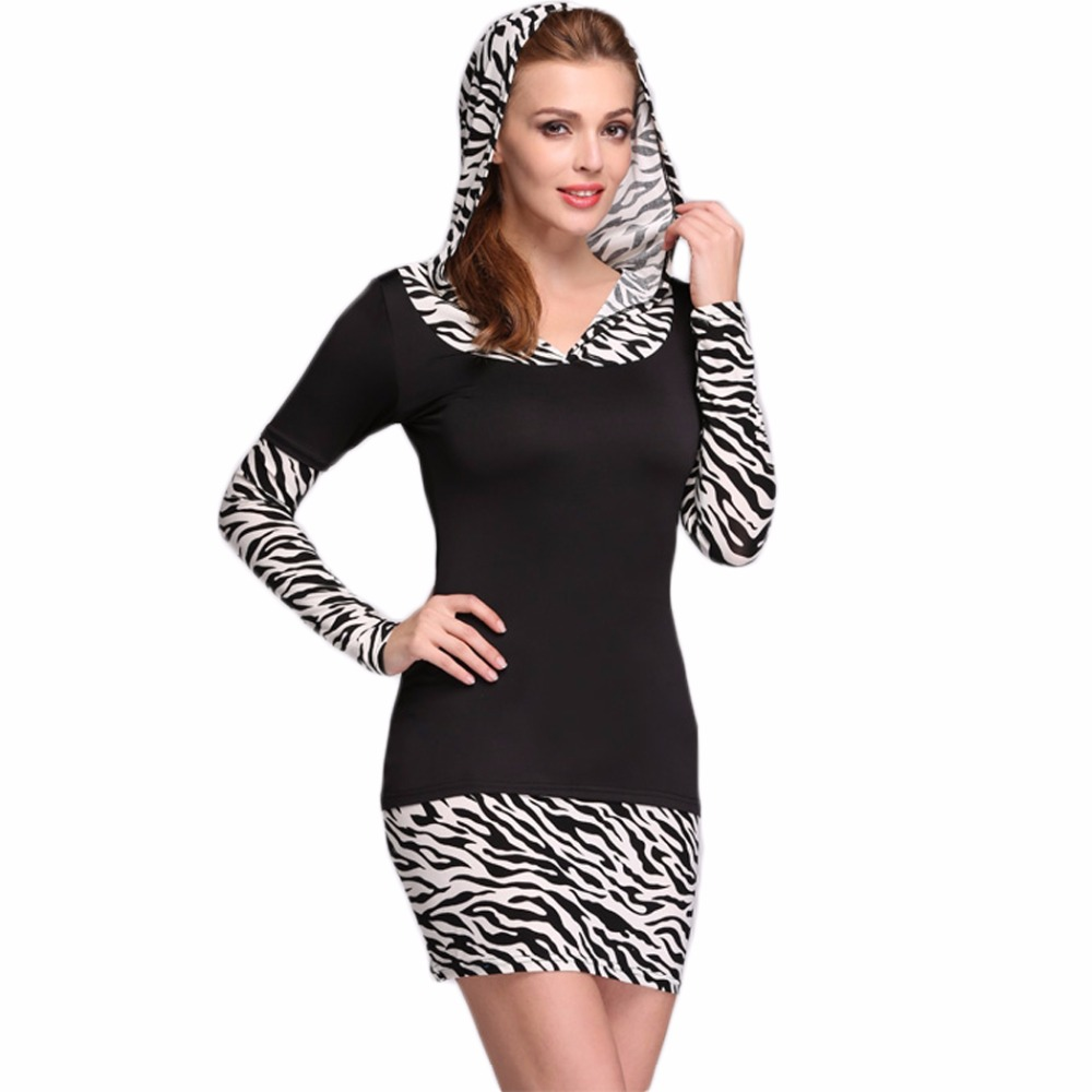 696fd42f62 Elegante primavera otoño manga larga vendaje mujeres vestido con capucha  bodycon túnica ropa sudor vestido de