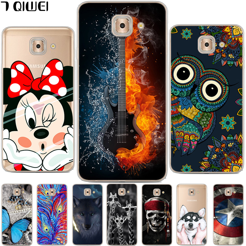 For Samsung Galaxy J7 Max Case Silicone Cute Cartoon Phone Cases For Funda Samsung J7 Max Case Soft TPU Back Cover J7Max Coque