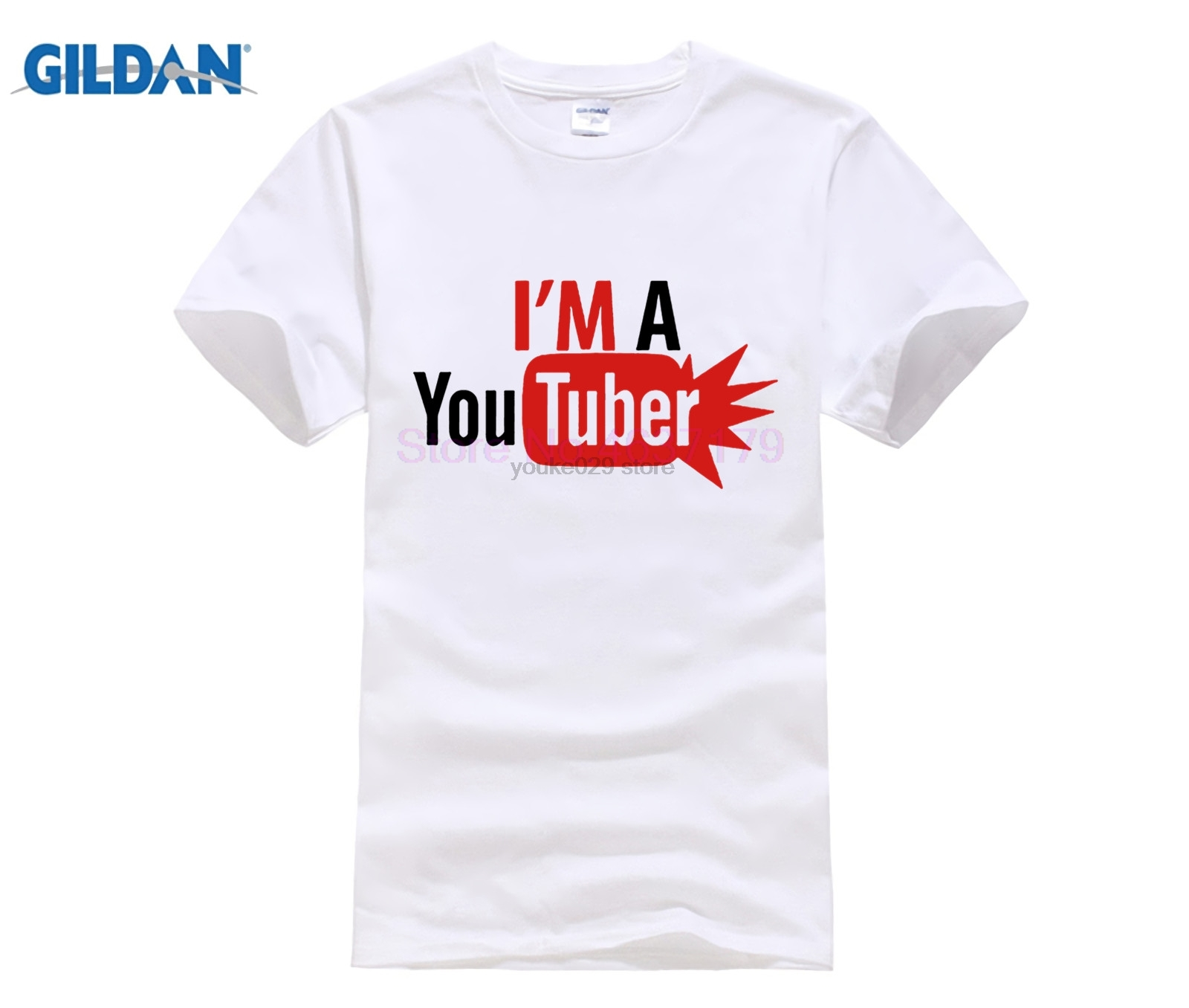 Leisure T Shirts Men New Design I'm a <font><b>Youtuber</b></font> Tees Tops O Neck Cotton Short Sleeved Adult t-shirt Camiseta male facebook <font><b>tshirt</b></font> image