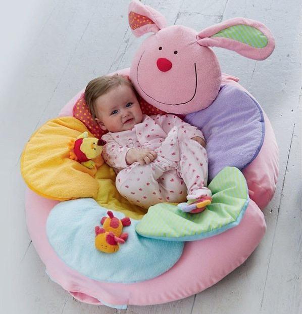 Розовый кролик надувные Детские Диван сиденья Blossom Ферма Сядьте Me Up Уютный младенческой мягкие игровые коврики EC-002