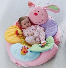 Conejo rosa sofá inflable del asiento del flor de elc me sienta encima de acogedor infantil alfombra de juegos blandos ec-002