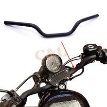 """1 """"25 ミリメートルオートバイ黒鉄トラッカーハンドルドラッグバーハーレースポーツスター Xl 883 1200"""