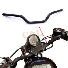 """1 """"25mm Motorfiets Zwart Ijzer Tracker Stuur Slepen Bars Voor Harley Sportster XL 883 1200"""