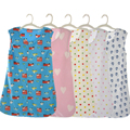 Baby sleeping bag spring and summer thin infants and young children sleeping bag plush fleece sleeveless cartoon sleeping set