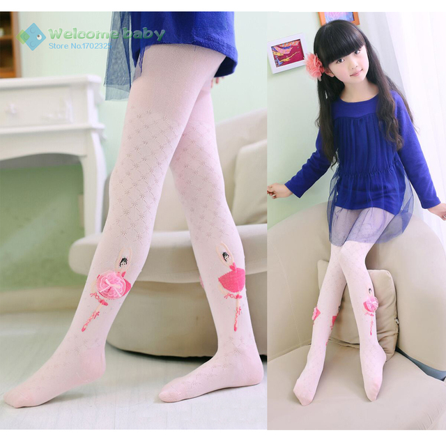 d28e6512b27fb Lovely Ballet girl dancing Lace Flower Soft Cotton Warm Pantyhose tights  for Girls Baby Kids leg warm spring/autumn brand new