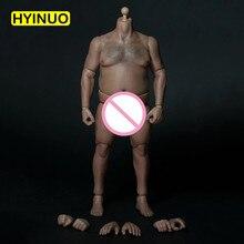 лучшая цена 1/6 Scale AT018 Fat Man Male Boy Body Figure Military Chest Fat Meat Similar 12