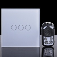 3 Gang 1 Way Single Firewire Touch Sensing Wall Switch Touch Lamp Switch Z Wave Remote