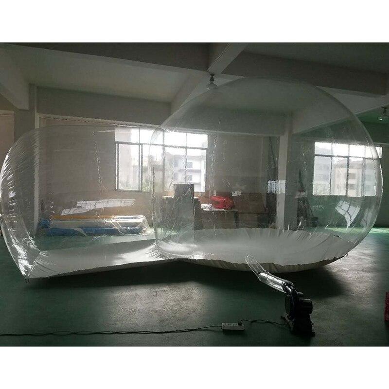 Tente de bulle de 5 m, tentes de Camping claires gonflables transparentes extérieures de bulle, tentes gonflables de luna de structure, tente de jardin de gazebo