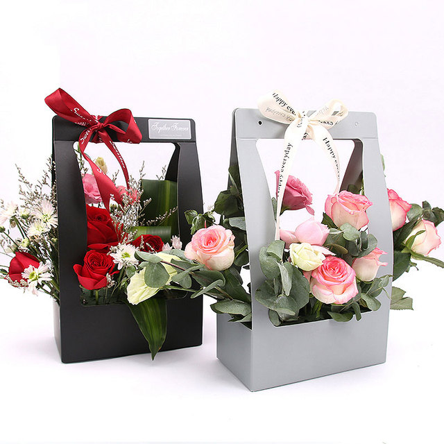 hand flower baskets flowers packaging gift boxes floral arrangements