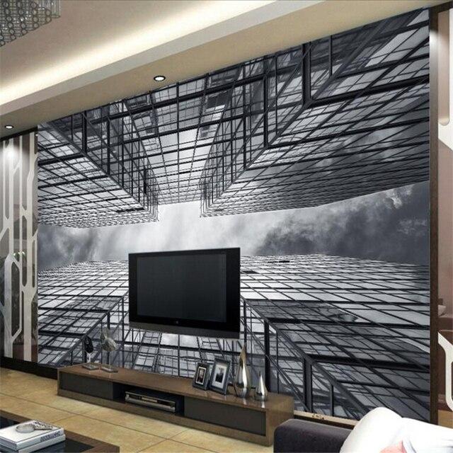 Beibehang Wallpaper Foto Nostalgia Urban High Rise Ruang Tamu R Tidur Tv