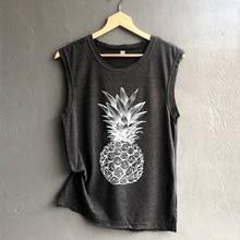 New Women T-shirt Pineapple Fruit Letter Casual Printed Female Tumblr Tee Tshirt Fashion Tops Tees Printing Shirt