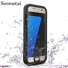 Samsung Galaxy S7 G930 Kar Geçirmez Durumda Orijinal RedPepper IP68 Su Geçirmez Dalış Sualtı PC + TPU Zırh Kapak Tam kapak