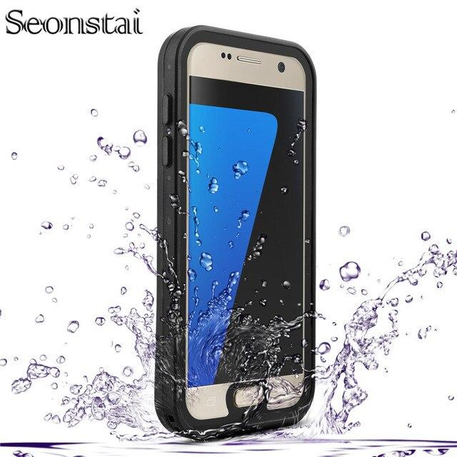 Voor Samsung Galaxy S7 G930 Sneeuw Proof Case Originele RedPepper IP68 Waterdichte Duiken Onderwater PC + TPU Armor Cover Volledige Cover