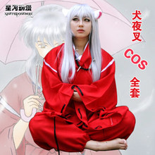 Anime InuYasha Cosplay Costumes Feudal Fairy Tale InuYasha Men's Halloween Party Costume