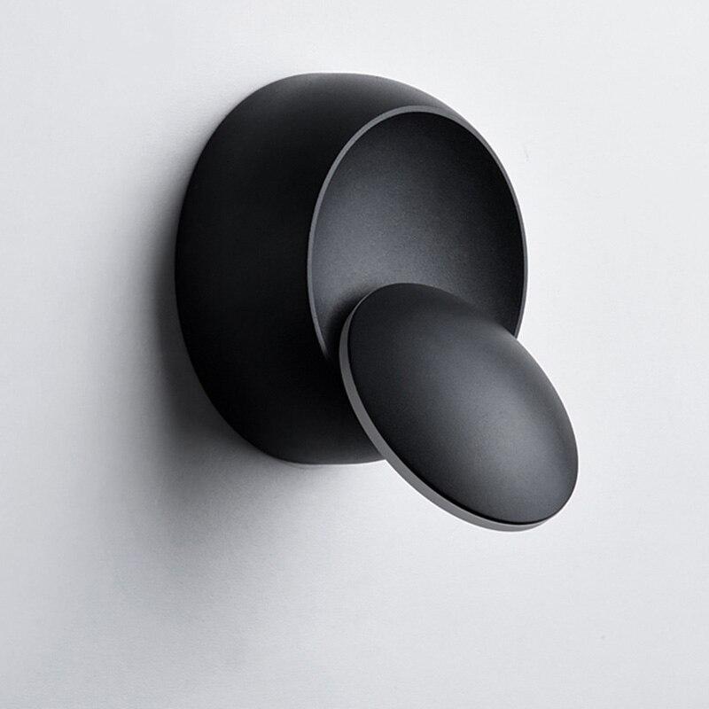 Lámpara lateral de 6W con luces de LED de pared para dormitorio, aplique ajustable 360 giratorio para el interior del hogar moderno