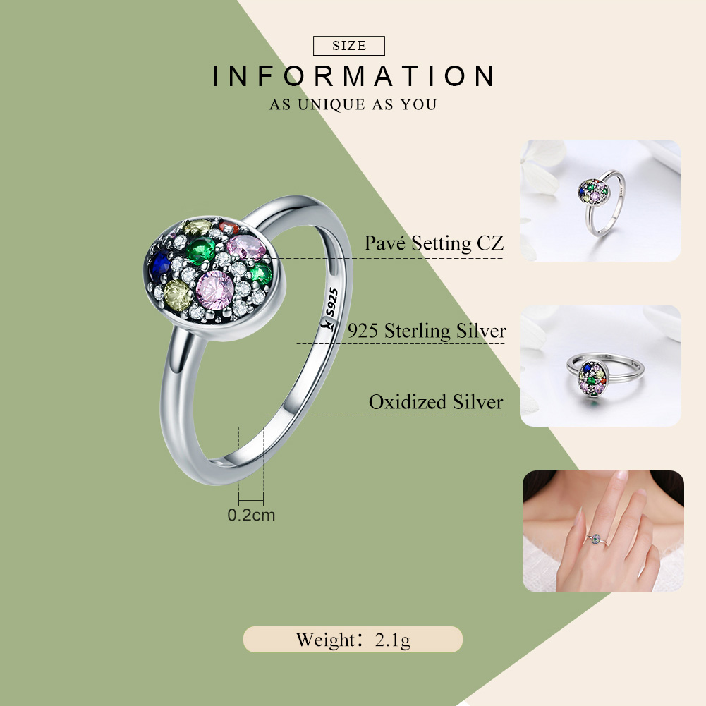 Image 3 - WOSTU 2019 New Fashion 925 Sterling Silver Easter Egg  Finger Rings For Women Luxury Easter Day Jewelry Gift CQR295-in Rings from Jewelry & Accessories