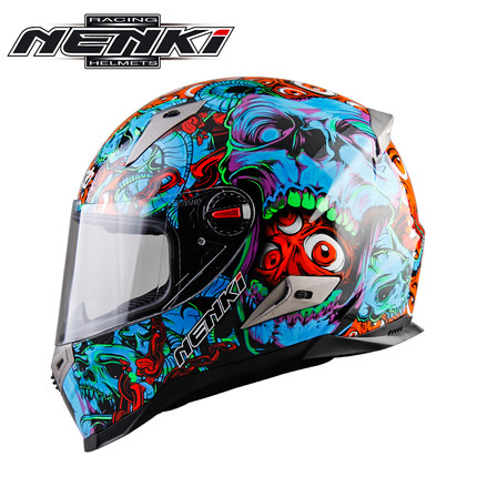 все цены на New Arrival Racing Motorcycle Full Face Helmet Bike Gafas Verspa Casco Motocross Capacete Moto Casque Nenki 863-S