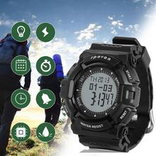 Discount! SPOVAN Men's Multifunctional Sports Watch Digital Temperature Pressure Stopwatch Outdoor Backlight Sport Military Watch
