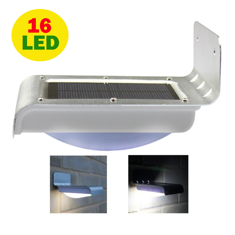16 LED Solar Light Outdoor Lights Waterproof Energy Saving Wall Light,Motion Sensor led lamp Lights for Garden Decoration potenco solar led night light outdoor wall garden light pir motion sensor led lamp energy saving emergency lights waterproof