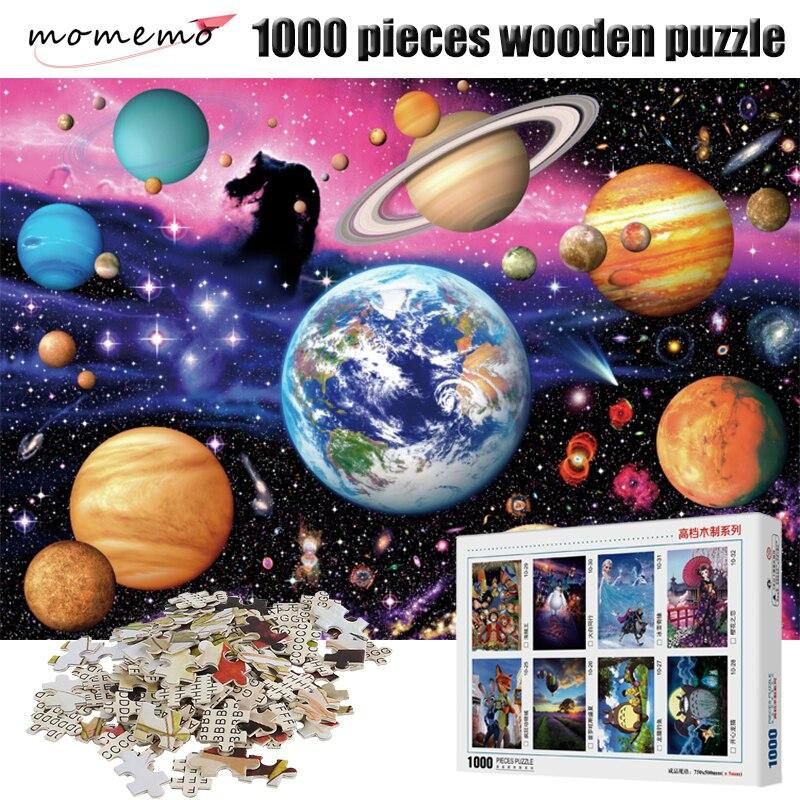 MOMEMO système solaire planète Puzzle Puzzle 1000 pièces en bois Puzzle adulte Puzzle jeu 1000 pièces Puzzle jouets pour enfants