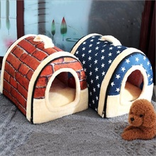 Hot!!!Dog House Kennel Nest With Mat Foldable Pet Dog Bed Cat Bed House For Small Medium Dogs Travel Pet Bed Bag Product hot dog house nest with mat foldable pet dog bed cat bed house for small medium dogs travel pet bed bag product