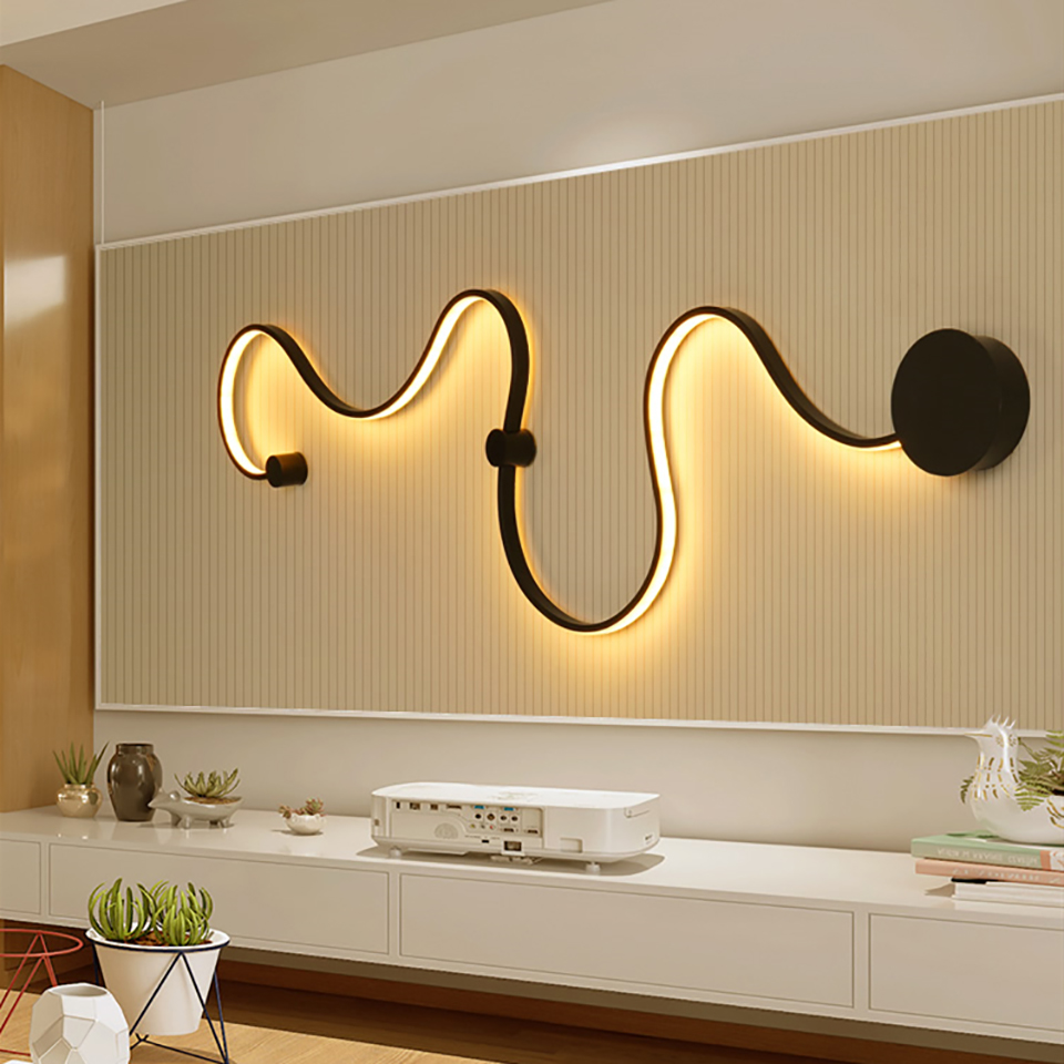 Modern LED Wall Lamps for Bedroom Study Living Balcony Room Acrylic Home Deco In White Lights Iron Body Sconce Lights FixturesModern LED Wall Lamps for Bedroom Study Living Balcony Room Acrylic Home Deco In White Lights Iron Body Sconce Lights Fixtures