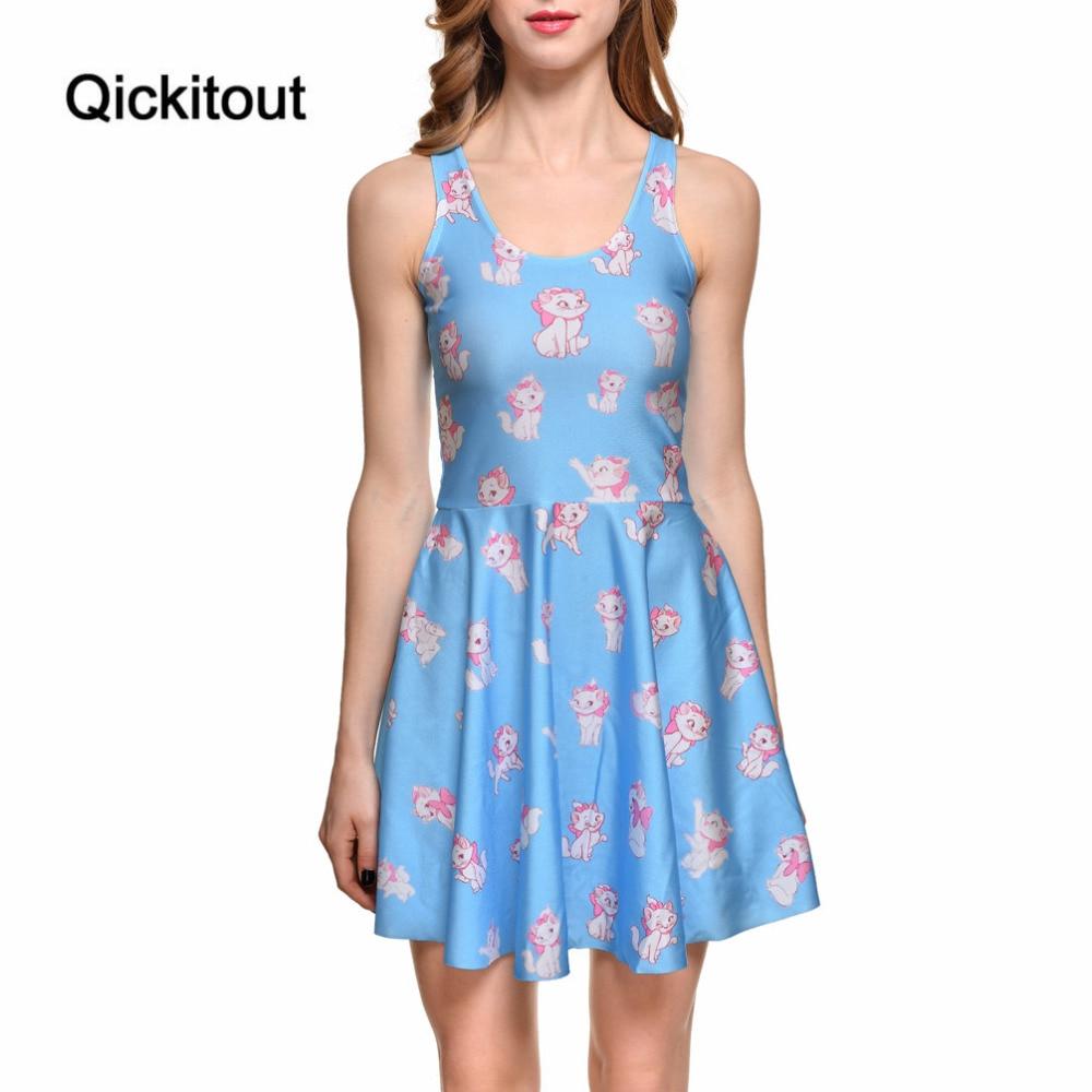 527a807221 Drop Ship Brand New Hot Sexy Women Casual Dress Marie Reversible Skater  Dress Pleated Print Dresses