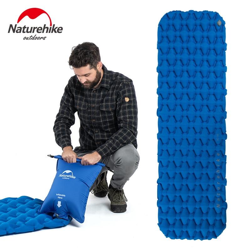 Naturehike Single Person Nylon TPU Sleeping Pad Camping Mat Lightweight Moisture-proof Air Mattress Portable Inflatable Mattress