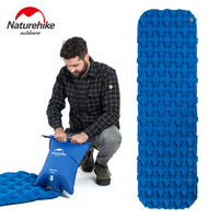 Naturehike Single Person Nylon TPU Sleeping Pad Camping Mat Lightweight Moisture proof Air Mattress Portable Inflatable Mattress