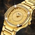 Часы женские  дизайнерские  брендовые  Роскошные  трендовые  женские  кварцевые  с бриллиантом  золотые  рождественский подарок для женщин